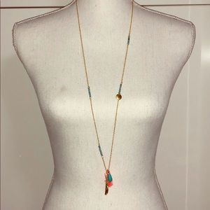 Jewelry - Feather Tropical Colored Necklace